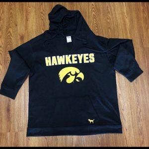 Raw cut V-neck Iowa Hawkeye Light Sweatshirt